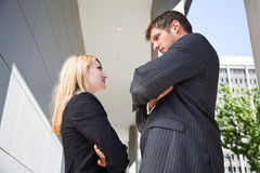 Two angry caucasian business people Royalty Free Stock Photography