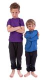 Two angry children Royalty Free Stock Photo
