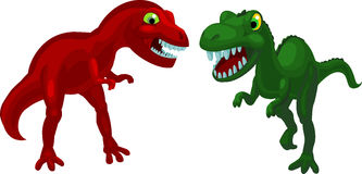 Two angry dinosaurs Stock Images