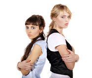 Two angry girls Royalty Free Stock Photos