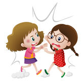 Two angry girls fighting Royalty Free Stock Photography