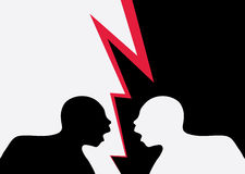 Two angry men shouting Stock Images