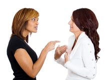 Two angry women Royalty Free Stock Photo