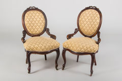 Two antique armchair Royalty Free Stock Images