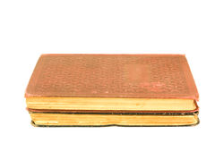 Two antique book. Isolated on white Stock Image