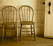 Two Antique Bow Backed Chairs Royalty Free Stock Photos