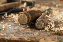 Two Antique Chisels Stock Image