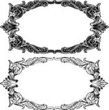 Two Antique Frame Engraving Royalty Free Stock Photography