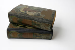 Two antique jugendstil books Royalty Free Stock Photos