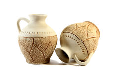 Two antique jugs Stock Images