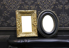Two antique photo frames Royalty Free Stock Photo