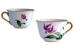 Two Antique porcelain cups Royalty Free Stock Photos