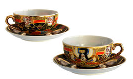 Two Antique porcelain cups Royalty Free Stock Photo
