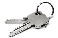 Two Apartment Keys w/ Ring Royalty Free Stock Image