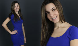 Two appearances of a beautiful woman Royalty Free Stock Photos