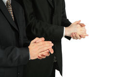 Two applauding men in suit Royalty Free Stock Photography