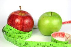 Two Apple Diet Stock Images