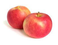 Two apple fruit on white background.  royalty free stock photography