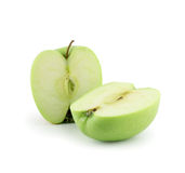 Two apple halves Royalty Free Stock Photography