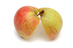 Two apple halves Royalty Free Stock Photos