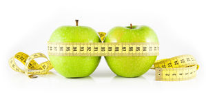 Two apple and meter Stock Photography