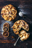 Two apple pies Royalty Free Stock Images