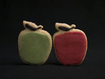 Two Apple Shaped Cookies Stock Photo