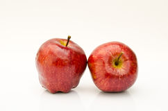 Two apple on white background Royalty Free Stock Images