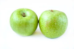 Two apples. Apple on the white background Royalty Free Stock Image