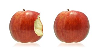 Two apples. Isolated on white background Royalty Free Stock Photo