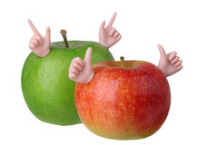 Two apples character Stock Image