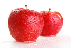 Two apples isolated on white. Background Stock Image