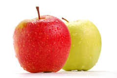 Two apples isolated on white. Background Stock Photo