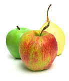Two apples and pear Royalty Free Stock Image
