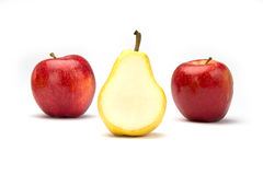 Two Apples and a Pear Royalty Free Stock Image