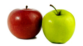 Two Apples. Red And Green. Royalty Free Stock Photo