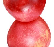 Two apples with water droplet Royalty Free Stock Images