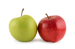 Two apples  on white Royalty Free Stock Image