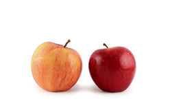 Two apples  on white background Stock Images