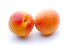 Two apricots close-up Royalty Free Stock Photos