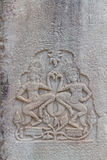 Two Apsaras on the wall of Angkor Wat Stock Photography
