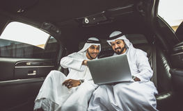 Free Two Arabic Businessmen Inside Limousine Stock Images - 88996054