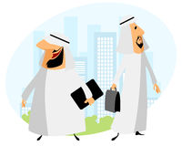 Two arabic businessmen Royalty Free Stock Photos