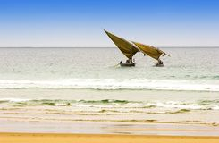 Two arabic fishing dhows Stock Photography