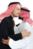Two Arabic men having warm Royalty Free Stock Photography