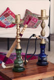 Two Arabic Shisha pipes Stock Photography