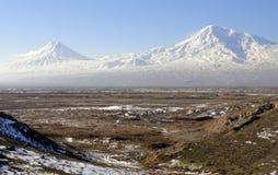 Two Ararat - two destinies Royalty Free Stock Photo