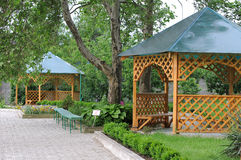 Free Two Arbors In A Garden. Stock Photography - 19796902
