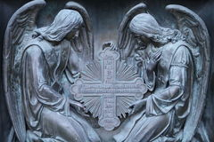Two archangel with cross Royalty Free Stock Photography