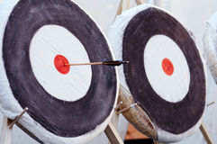 Two archery target Royalty Free Stock Photos